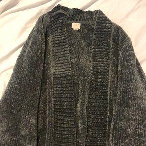 A New Day green/grey chenille sweater size M